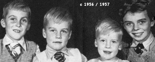 Bruce, Kevin, Andrew and Christine (approx 1957)
